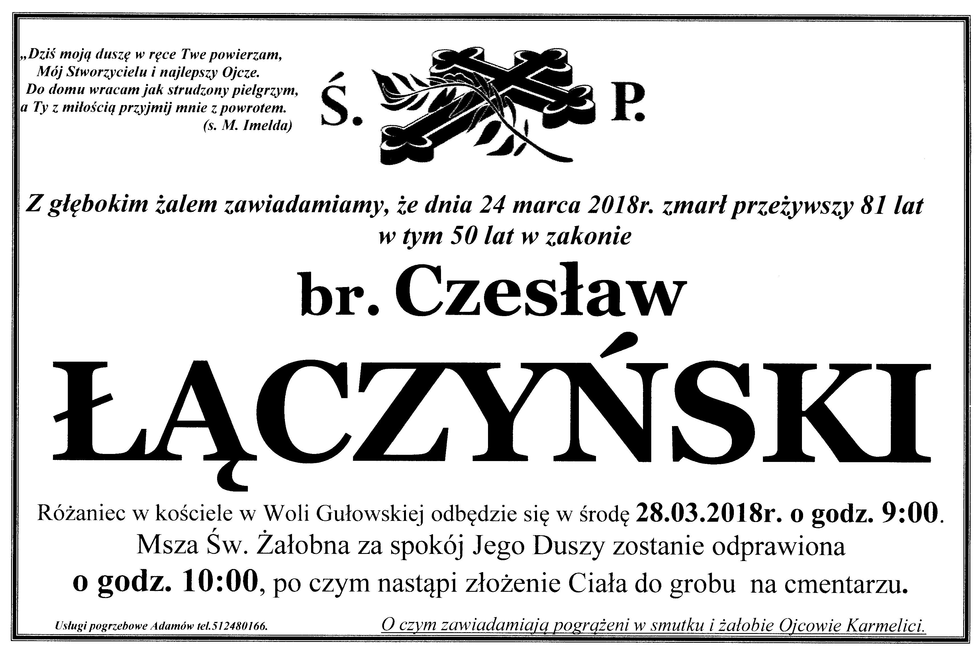 śp. br. Czesław Łączyński
